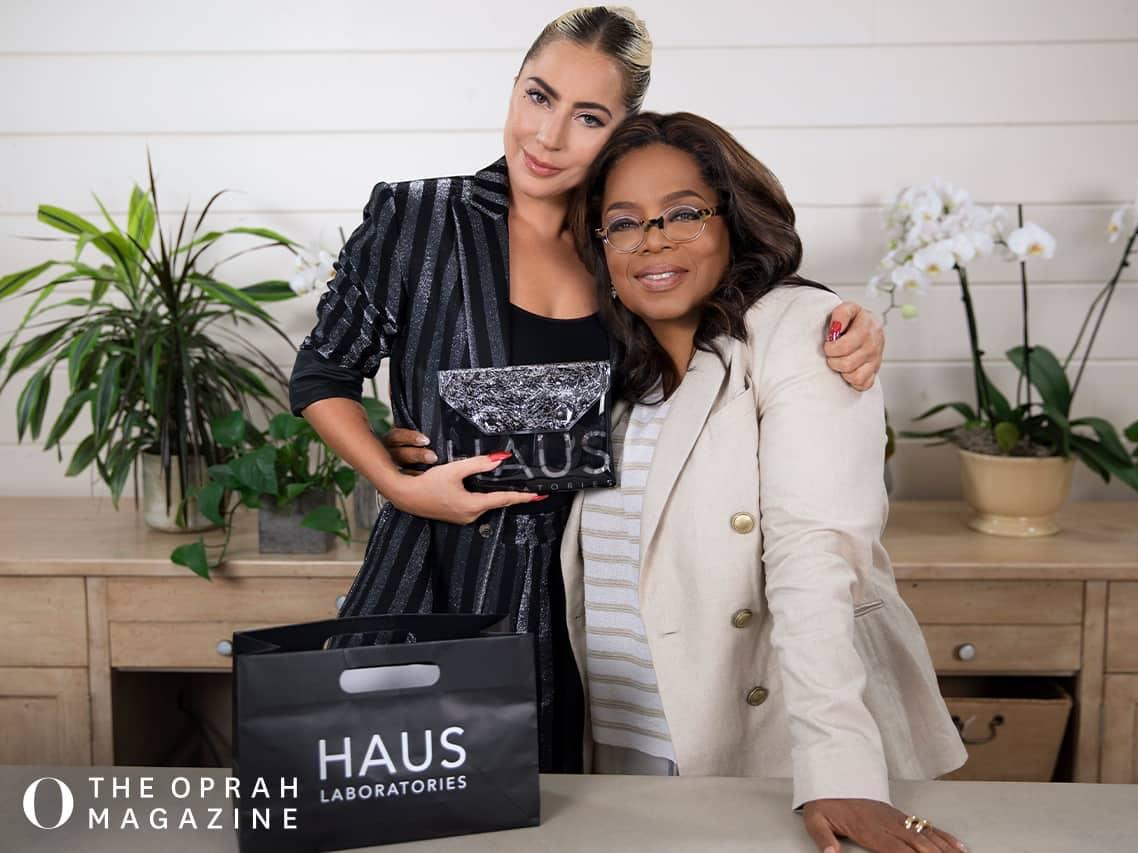Watch Lady Gaga Apply Oprah's Makeup Using Haus Laboratories for Oprah's Favorite Things